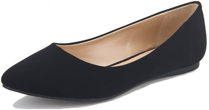 Amazon.com | DREAM PAIRS Women's Casual Pointed Toe Ballet Comfort Soft Slip On Flats Shoes | Shoes