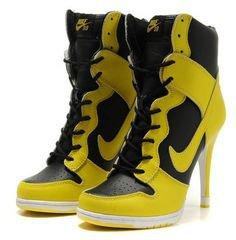 Nike High Heels Yellow Black