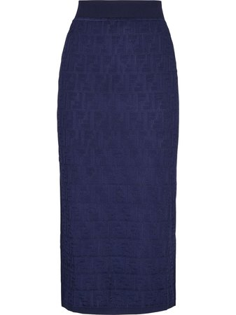 Fendi Monogram Knitted Skirt - Farfetch