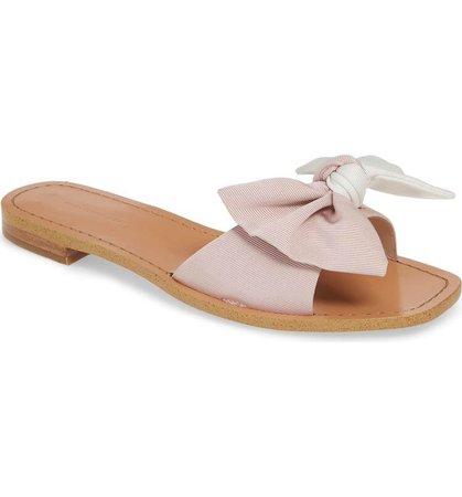 SOMETHING NAVY Cici Bow Flat Slide Sandal
