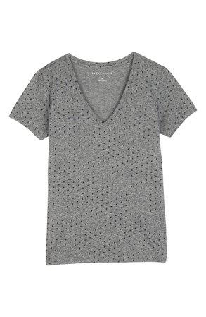 Lucky Brand Essential Polka Dot V-Neck Top | Nordstrom