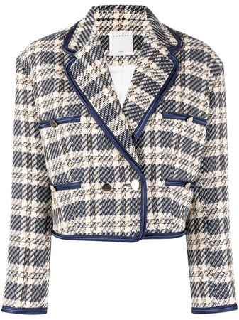 Sandro Paris tweed cropped jacket