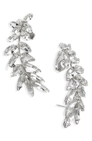 CRISTABELLE Crystal Ear Crawler Earrings | Nordstrom