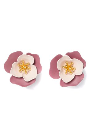 Vince Camuto Flower Clip-On Earrings | Nordstrom