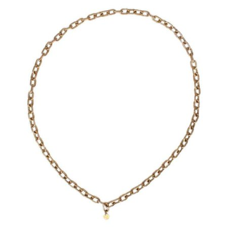 CHANEL gold-tone Rope Chain Necklace VINTAGE For Sale at 1stdibs