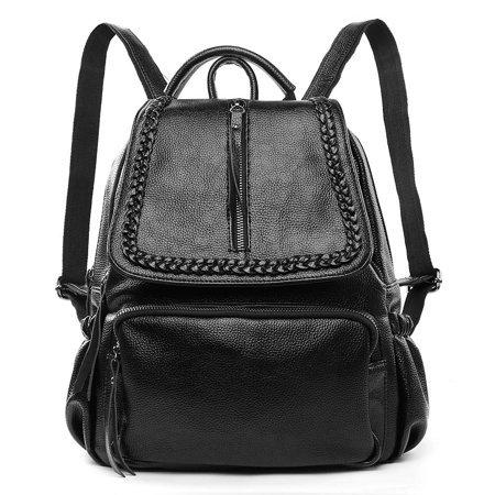 VANGODDY - Vangoddy Women's Genuine Leather Backpack with Adjustable Shoulder Strap for Everyday Use - Walmart.com black