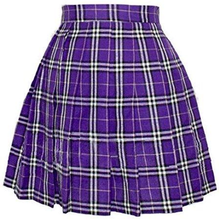 Plaid purple skirt