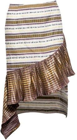 Vivienne Hu Skirt With Asymmetric Fringe Detail