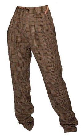 plaid brown pants