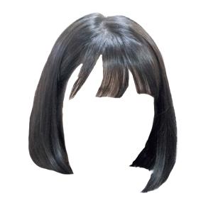 short black hair png bangs