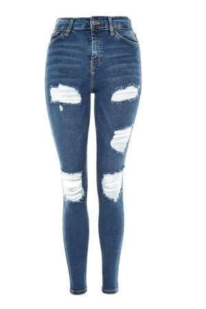 Indigo Super Ripped Jamie Jeans | Topshop