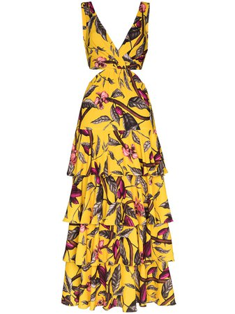 Johanna Ortiz Nature's Eloquence Tiered Maxi Dress - Farfetch