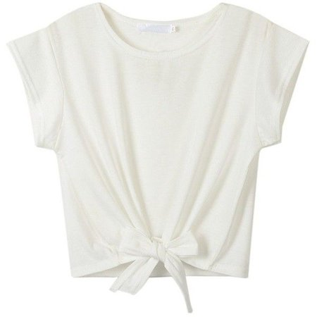 Tied White T shirt