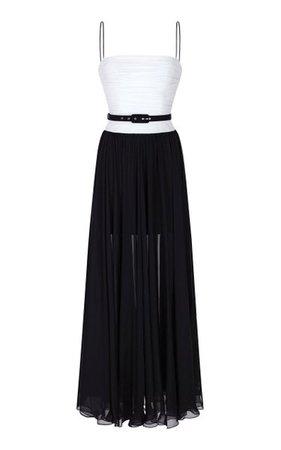 Draped Silk-Chiffon Gown By Rasario | Moda Operandi