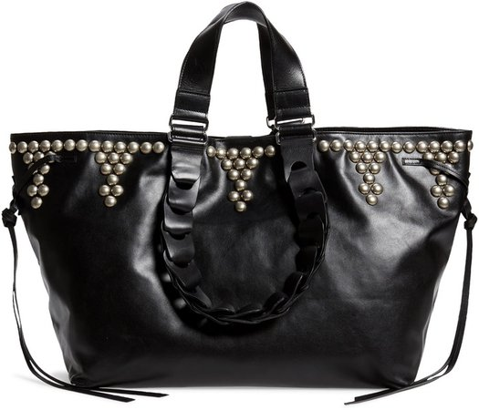 Wardy Studded Leather Tote