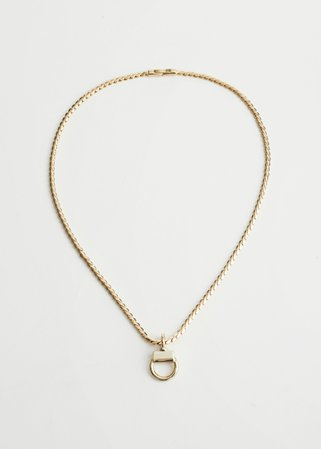 Buckle Pendant Chain Necklace - Gold - Necklaces - & Other Stories