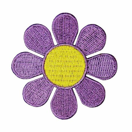 2 INCH Daisy Lavender with Yellow Center Embroidered Iron On   Etsy