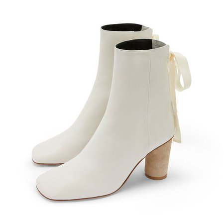 Ankle Boot 80 White - LOEWE