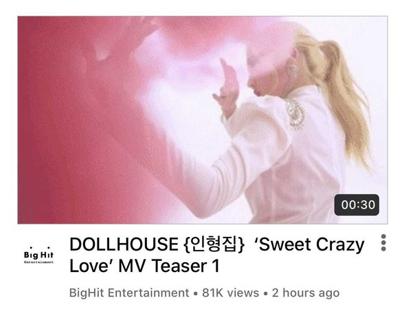 DOLLHOUSE 'Sweet Crazy Love' MV Teaser 1