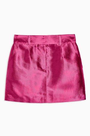 Pink Satin Mini Skirt | Topshop
