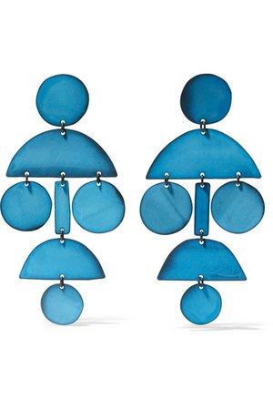 Annie Costello Brown   Pom Pom oxidized earrings   NET-A-PORTER.COM