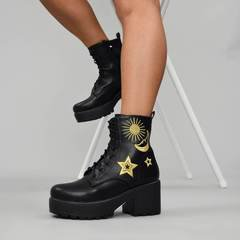 ASTRO Star and Moon Chunky Boots | Koi