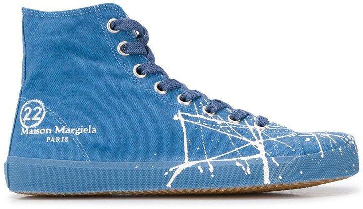 Tabi canvas high-top sneakers