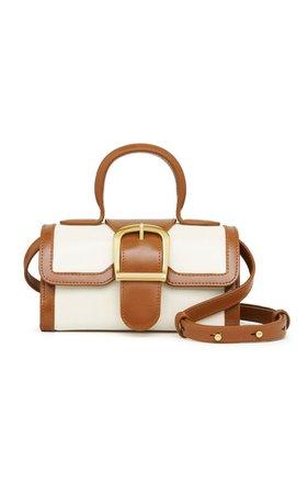 Mini Satchel Contrasting Leather Top Handle Bag By Rylan   Moda Operandi