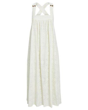 Ciao Lucia Laura Cross Stitch Midi Dress   INTERMIX®