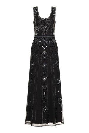 black roaring 20s flapper dress