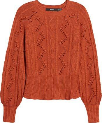 VERO MODA Joel Cable Knit Sweater | Nordstrom