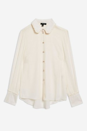 Ruffle Collar Shirt - Shirts & Blouses - Clothing - Topshop USA