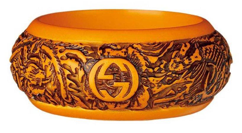 gucci wood logo bracelet