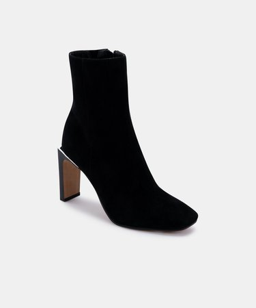 KELSIE BOOTIES IN BLACK SUEDE – Dolce Vita