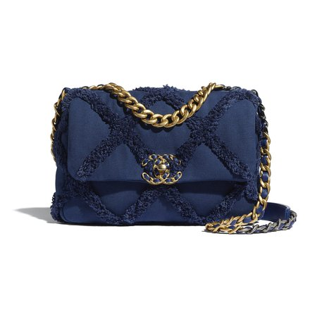 chanel-19-flap-bag-navy-blue-cotton-canvas-calfskin-gold-tone-silver-tone-ruthenium-finish-metal-cotton-canvas-calfskin-gold-tone-silver-tone-ruthenium-finish-metal-packshot-default-as1160b04851nb215-8832551813150.jpg (1488×1488)
