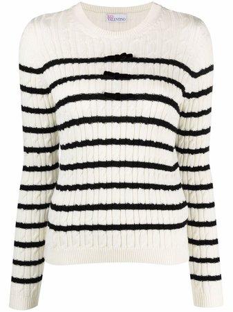 RED Valentino striped wool jumper