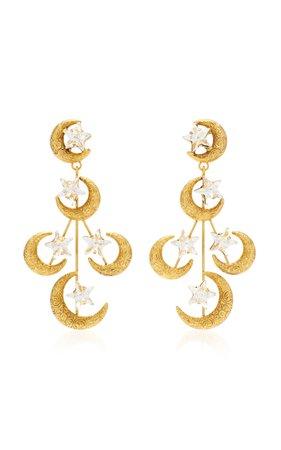 Solstice Antique Gold Crystal Earrings by Jennifer Behr | Moda Operandi