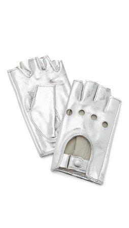 silver fingerless gloves - Google Search