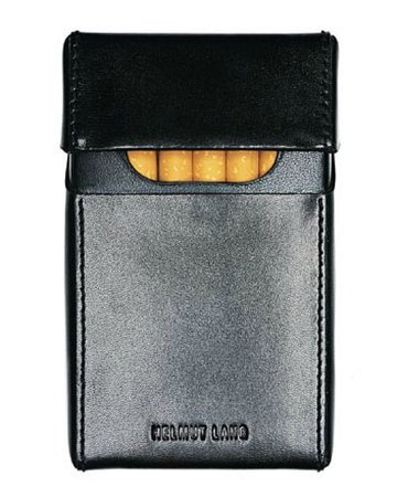 asuddensway: Helmut Lang leather cigarette case -