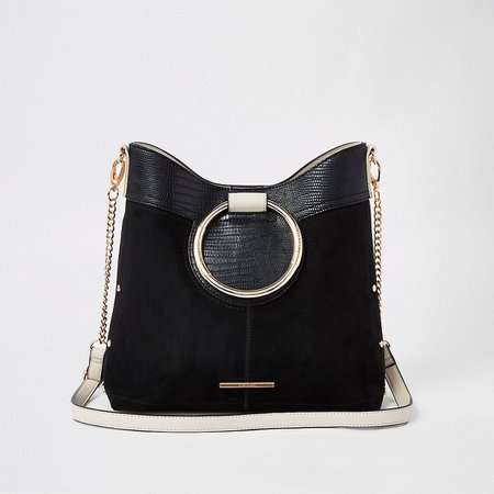 Black ring handle bucket bag - Shoulder Bags - Bags & Purses - women