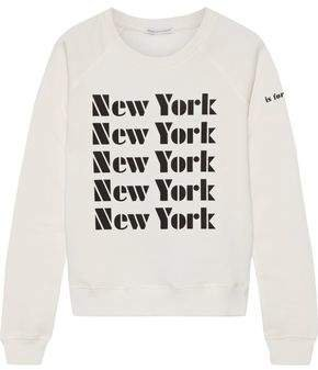 Printed Cotton-blend Fleece Sweatshirt