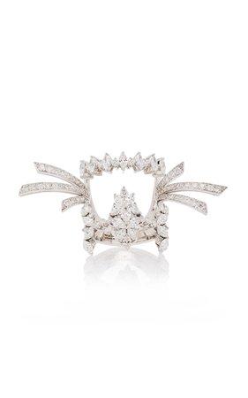 Yeprem Statement 18K White And Diamond Ring