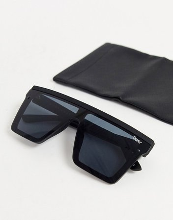 Quay Australia Hindsight sunglasses in black | ASOS