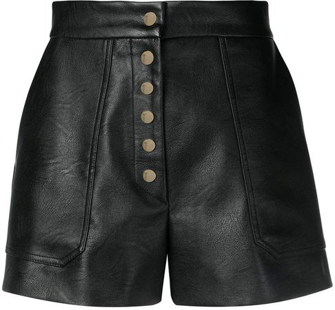 high-rise buttoned shorts