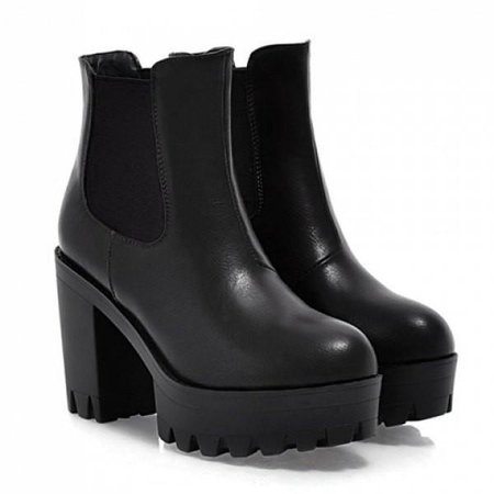 Grunge Chunky Heel Vegan Leather Boots – Feelin Peachy