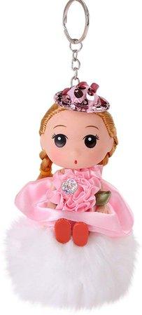 Amazon.com: Keychains for Girls CZYCO 8CM Cute Doll Keychain Pendant Women Key Ring Holder Pompoms Key Chains (BU): Clothing