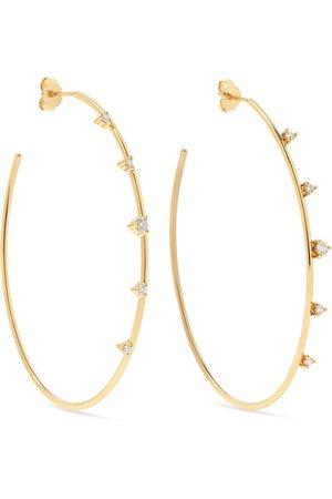 Mizuki | 14-karat gold diamond hoop earrings | NET-A-PORTER.COM
