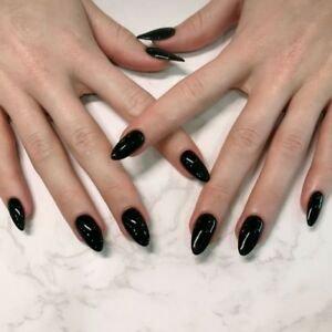 Fake Nails Black