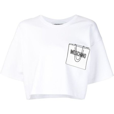 Moschino White Crop Top