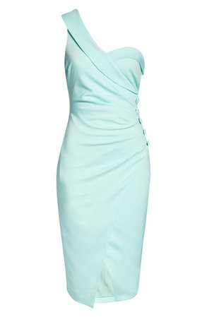 LAVISH ALICE One Shoulder Button Wrap Dress | Nordstrom
